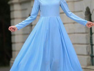 tesettür elbise ile eşarp kombini, eşarp kombini yapma, tesettürde eşarp kombini